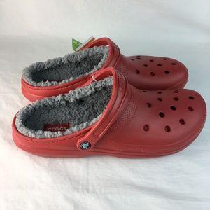 Crocs Classic Lined Clog Slingback Red Pepper NEW